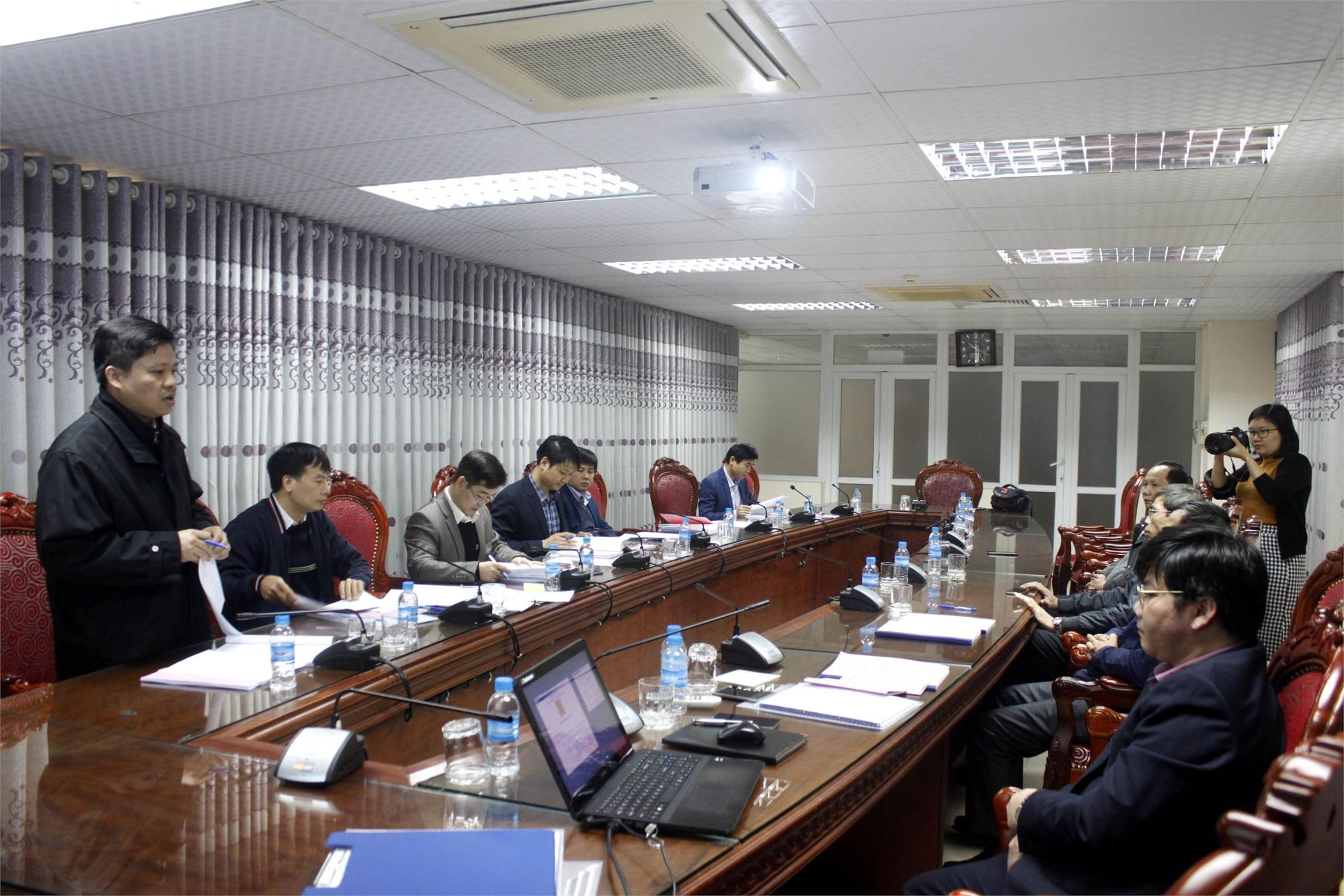 Nghiệm thu cấp cơ sở đề tài nghiên cứu khoa học Bộ Công Thương do PGS.TS. Phạm Văn Bổng chủ nhiệm