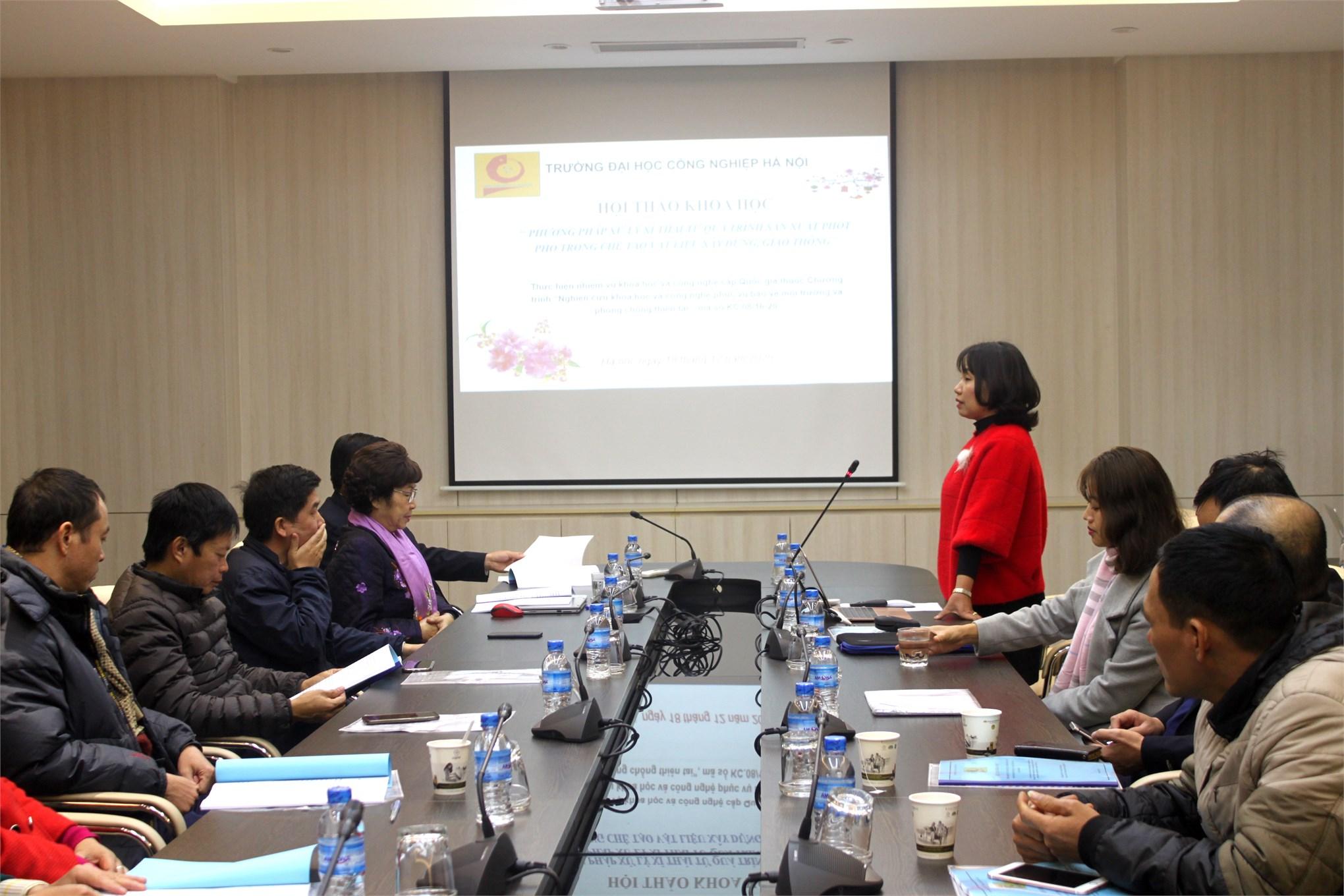 Nghiệm thu cấp cơ sở đề tài thuộc chương trình KC 08 do TS. Phạm Thị Mai Hương chủ nhiệm