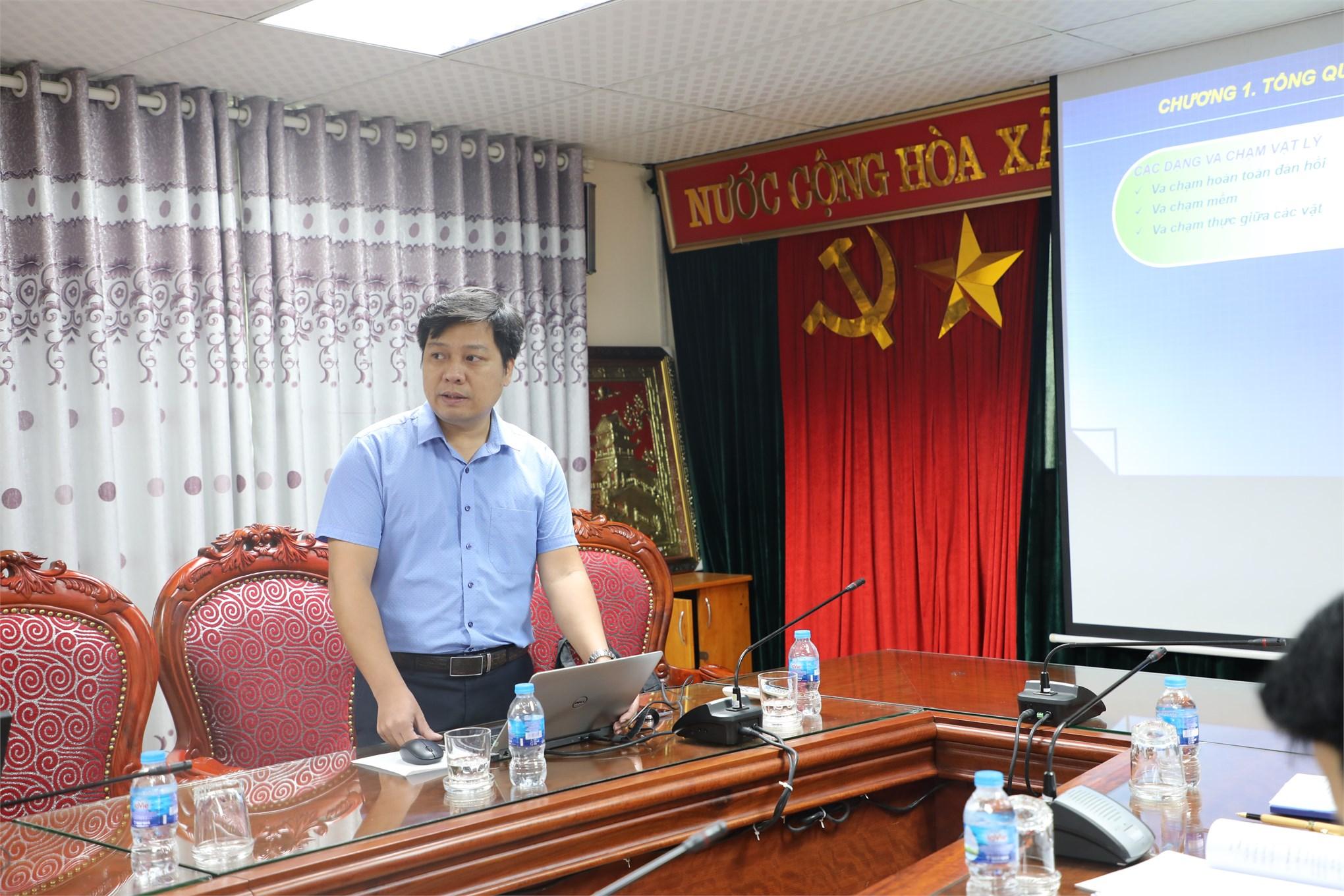 Nghiệm thu đề tài NCKH cấp trường do TS. Nguyễn Tuấn Linh chủ nhiệm