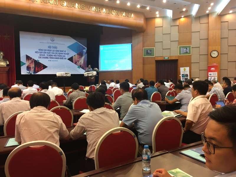 """Hội thảo """"Nâng cao năng lực công nghệ và hiệu quả sản xuất của các doanh nghiệp cơ khí - tự động hóa thông qua các Chương trình khoa học và công nghệ quốc gia"""""""