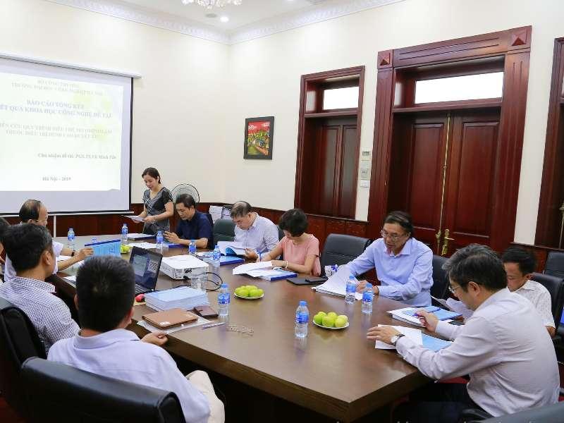 Nghiệm thu đề tài khoa học cấp Nhà nước do PGS.TS. Vũ Minh Tân chủ nhiệm