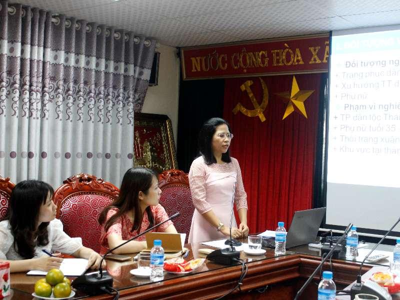 Nghiệm thu đề tài nghiên cứu khoa học: Nghiên cứu trang phục dân tộc Thái ứng dụng vào thời trang dạo phố dành cho nữ