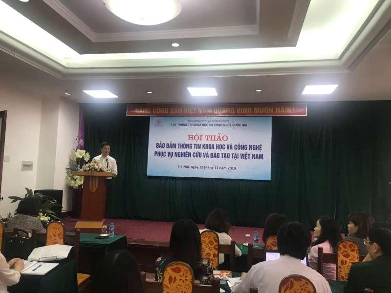 """Hội thảo khoa học: """"Bảo đảm thông tin khoa học và công nghệ phục vụ nghiên cứu và đào tạo tại Việt Nam"""""""