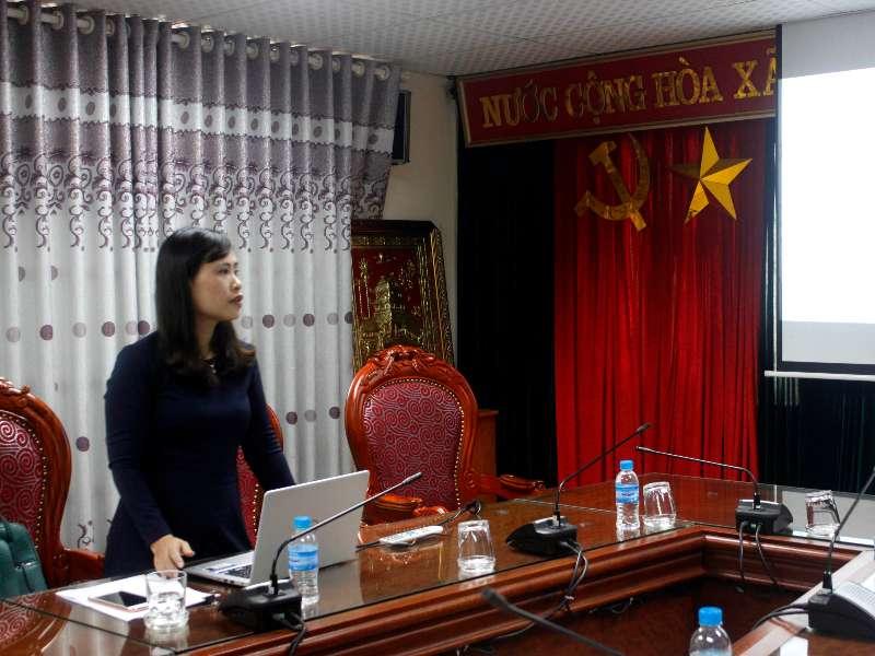 Nghiệm thu đề tài NCKH cấp trường do TS. Trần Thị Bích Huệ chủ nhiệm