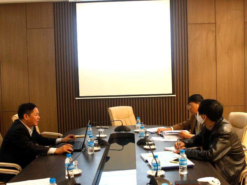 Nghiệm thu đề tài NCKH cấp trường do TS. Hà Mạnh Đào chủ nhiệm