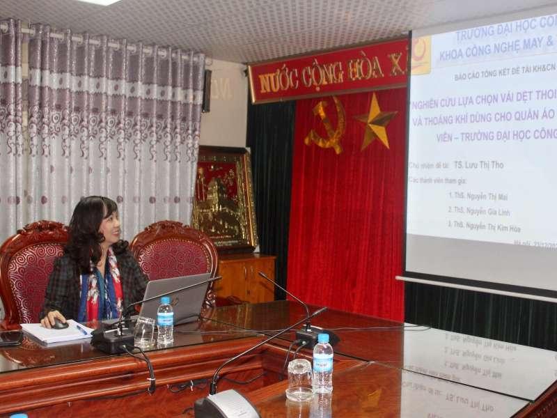 Nghiệm thu đề tài NCKH cấp Trường do TS. Lưu Thị Tho chủ nhiệm